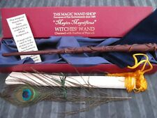 Hermione Wooden /wizardwitches magic wand Peacock feather Boxed NEW Harry Potter