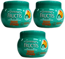 3 x Garnier Fructis Grow Strong Ultra Strengthening Mask 300ml 100% Brand New