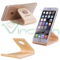 Stand in legno SAMDI supporto tavolo universale per Apple iPhone 8 e Plus X 10