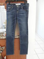 NWOT Womens HOLLISTER  DENIM JEANS Size 3S Straight W26/31 Navy