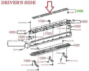 LEXUS OEM FACTORY DRIVERS SIDE RUNNING BOARD STEP PAD 2003-2009 GX470