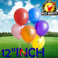 "12"" INCH Latex Balloons Helium & Air Quality Ballons COLORS Baloons Birthday"