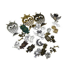 20 pcs Assorted Mix Vintage Steampunk Metal Owl Charms Pendants Findings DIY