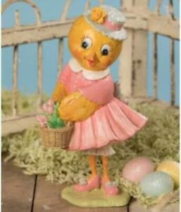 Easter Tulip Chick Figurine Vintage Style by Bethany Lowe