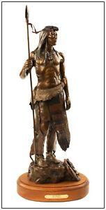 Susan Kliewer Large Original Native American Bronze Sculpture Blackfoot Signed