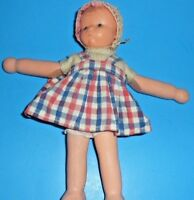 """Rubber doll W. Germany Goebel  10"""" baby doll #3906 1960's Puppe Hummel pigtails"""