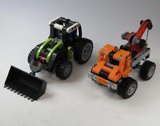 Lego Technic Veicolo Trattore Ablschlepptruck Unimog Pala Gommata 2 Pezzi