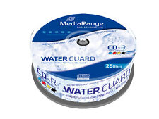 NUOVO MediaRange waterguard CD-R 700 MB / 80 MIN 52X FULL PRINTABLE ACQUA SCUDO
