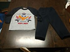 NWT Tuff Guys Rock Star Gray Navy Blue Outfit Size Boy's 2T
