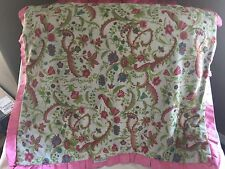 MINKY COUTURE Pink Green White Patterned Floral Paisley Vines Baby BLANKET HTF
