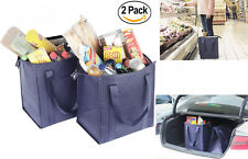 2 Large HEAVY DUTY Grocery Bag Shopping Bags Tote Thermo Insulated Lunch Bag 15