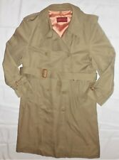 Vintage Sasson Khaki Belted Overcoat Trench Coat Woman's/Men's Size 42 Unisex