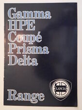 LANCIA RANGE orig 1983 UK Mkt Sales Brochure - Gamma HPE Coupe Prisma Delta