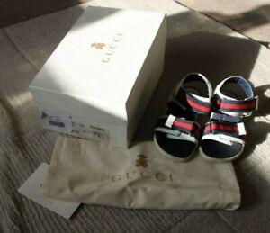 Childrens Gucci Sandals, Size 29, White.