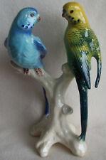 Cortendorf Figuren Keramik - 2 Wellensittiche / Vögel - 4244