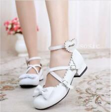HOT Women Sweet Princess Buckle Ankle Cross Strap Mary Janes Lolita Cosplay Shoe