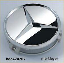 Alufelgen Stern 1 Satz Naben-Kappen Originalteil Mercedes Benz B66470207 chrom