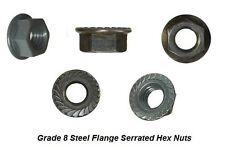 "GR 8 Serrated Flange Hex Nut, RH, 1/4""-20 x 15/64 Height, 19/32 Dia 200 Pcs"
