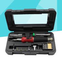 10-in-1 Self-igniting Adjustable Gas Butane Soldering Iron Kit Welding Torch Kit