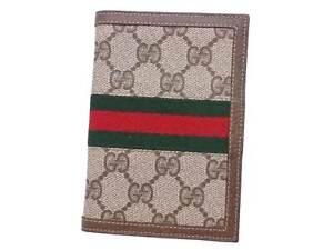 Auth Gucci GG Supreme Agenda/Note Cover Beige/Brown PVC/Canvas - e48584a