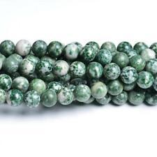 Filo 60+ Verde/Bianco Agata Arborizzata 6mm Tondo Perline CB32060-2