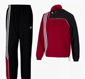Adidas Herren Trainingsanzug Sereno 11 Präsentationsanzug , Rot/schwarz, 7 , Neu
