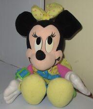 Vintage Disney Mattel Learn To Dress Me Minnie Mouse Stuffed Plush Teaching Doll