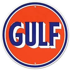 Vintage Art 'GULF OIL' Decorative Tin Sign Full Of Good Old American Nostalgia!