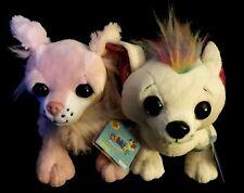 Ganz Webkinz plush Chichi Chihuahua HM484 & Mohawk Chihuahua HM776. NEW w/ codes