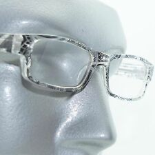 Reading Glasses Sharp Ink Style Tattoo Graffiti Frame +2.25 Clear Black
