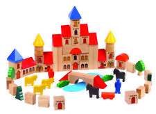 Castle Building Blocks | Kids Childrens Toddler Pretend Play Wooden