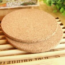 6pcs Drink Coaster Tea Coffee Cup Mat Pads Cork Wood Table Decor Tableware NEW !