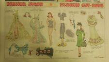 Brenda Starr Sunday with Large Uncut Paper Dolls from 9/13/1942 Full Size Page