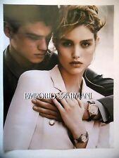 PUBLICITE-ADVERTISING :  EMPORIO ARMANI Couple 01  2016 Montres