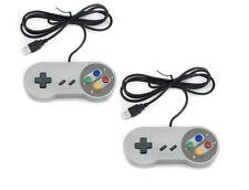2x Nintendo SNES PC GamePad SFC Controlador párr Super Famicom de PC de Windows