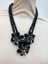 Butler and Wilson Semi Precious  3 Flower Beaded Necklace New