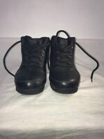 Timberland Older Boys Black Leather Lace Up Ankle Boots Uk 5.5 Ref Ba12