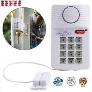 Loud Wireless Security Keypad Door Shed Garage Caravan Office Panic Alarm System