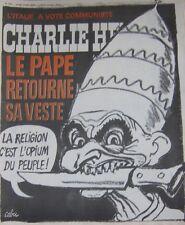 CHARLIE HEBDO No 240 JUIN 1975 CABU LE PAPE RETOURNE SA VESTE
