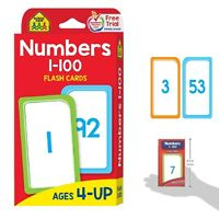 Kids Educational Toys Flash Cards Number 1 - 100 Childrens Learning Develop Skil