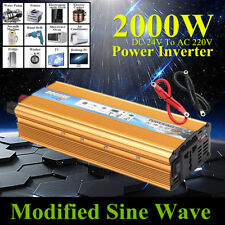 2000W Inversor de Corriente Car Modificado Sine Wave Convertidor DC 24V a AC220V