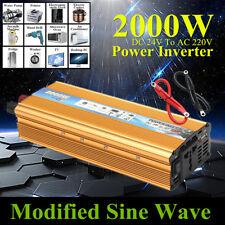 2000W Inversor de Corriente Car Modificado Sine Wave Convertidor DC 24V a AC220V