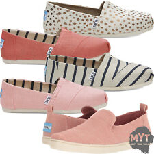 Womens Toms Classic Canvas Shoes Slip On Mens All Sizes Loafers Flats New