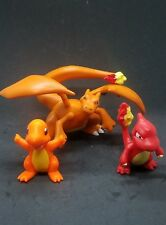 pokemon figures lot chamander Charmeleon Charizard 1-2.75 inches each USA seller