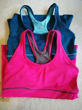2 New Youth CG by Champion Fitted Workout Tank Top  Build In Bra Sz S Pink Blue
