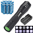 Super Bright Tactical LED Flashlight+ 3.7V Li-ion Rechargeable Batteries+Charger