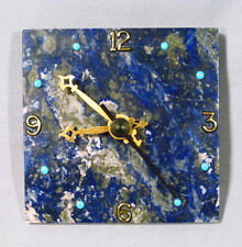 "Lapis Lazuli Stone Decorative U.T.S. Quartz Germany 4"" Desk Wall Clock - NICE!"
