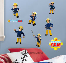 Fireman Sam Kids Wall Art Sticker Nursery Decor Removable Decal Boys Mural Gift