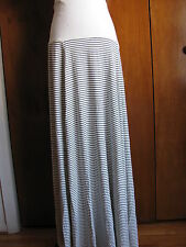 GAP women's white with black stripes fold over maxi skirt  size XLarge NWT