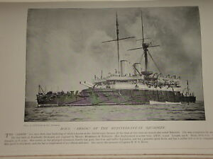 1896 H.M.S. ANSON ~ BATTLESHIP MEDITERRANEAN FLEET